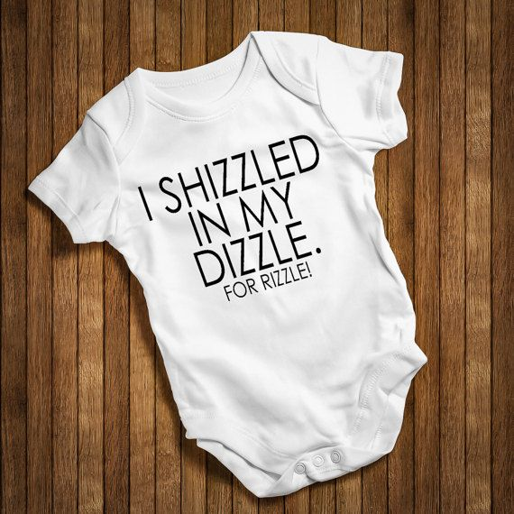 Baby Babies Newborn Gift  Birth Twins I Just Shizzled My Dizzle BabyGrow