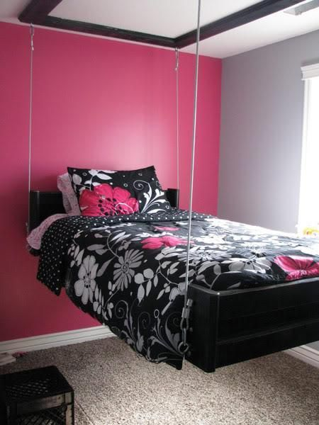 25 Hanging Bed Designs Floating In Creative Bedrooms Idee Camera