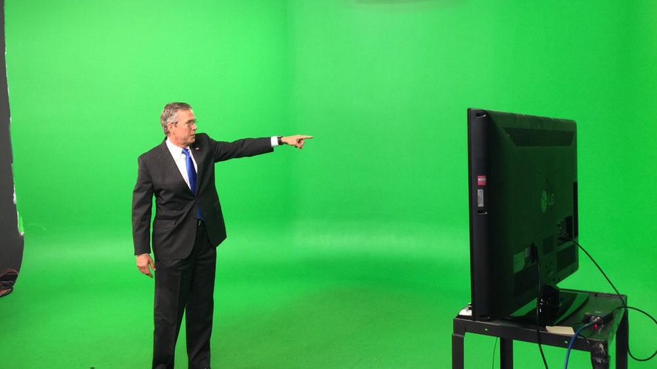 Jeb Bush In Front Of A Green Screen Is What Photoshop Dreams Are Made Of Greenscreen Photo Photoshop Battle
