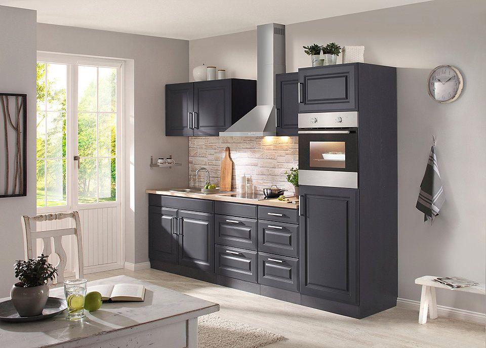 HELD MÖBEL Küchenzeile mit E-Geräten »Stockholm 270 cm« Jetzt - küchenzeile 220 cm mit elektrogeräten