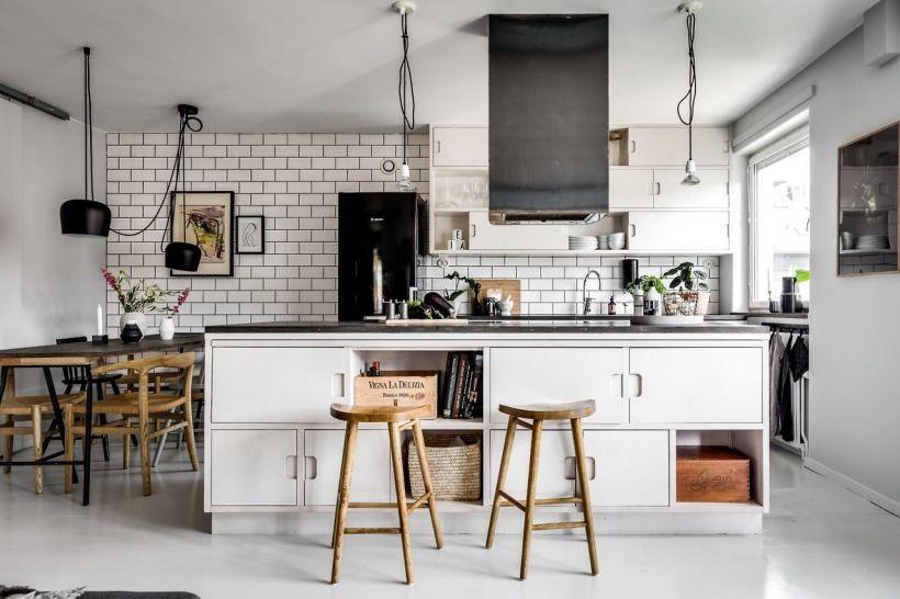 Otwarta Kuchnia Z Duza Wyspa I Jadalnia Lovingit Pl Interior Design Kitchen Scandinavian Interior Kitchen Kitchen Interior