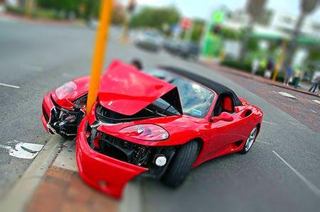 Ferrari Crash Car Crash Car Humor Car Insurance