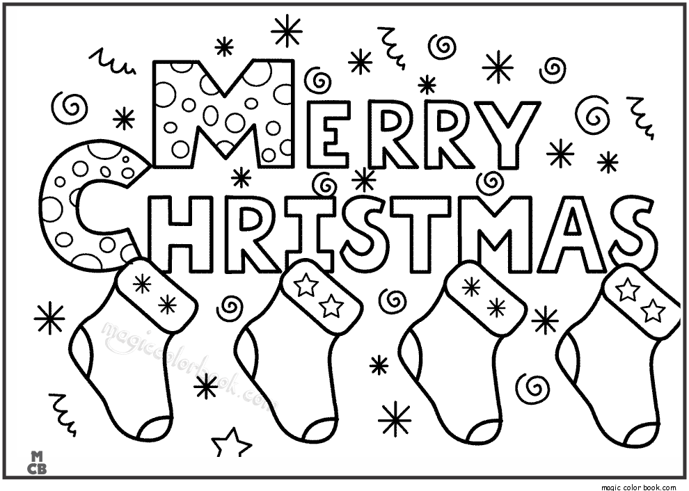 Merry christmas coloring pages for kids Printable