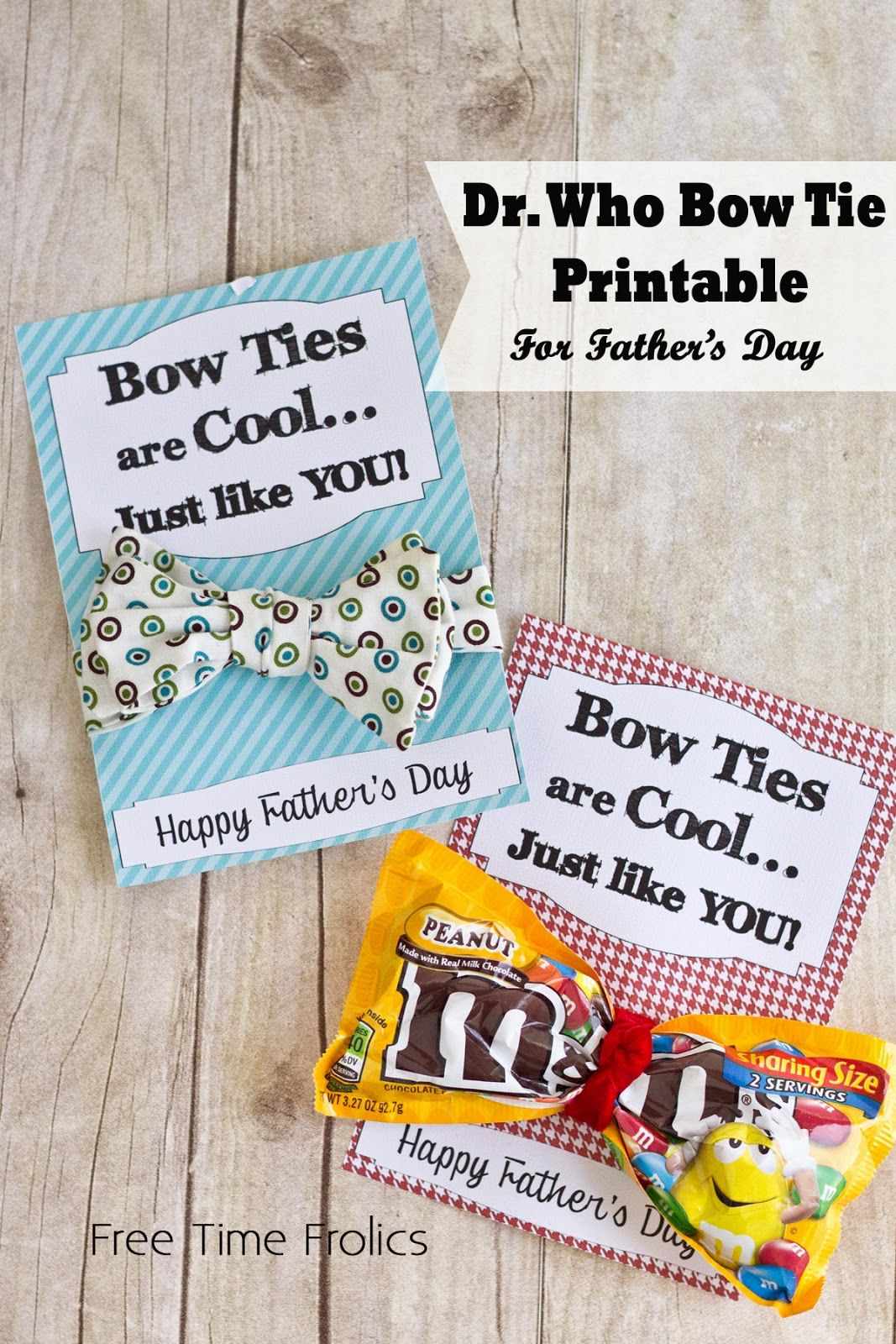 Dr Who Bow Tie Father s Day Printable