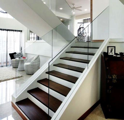 Railing Tangga Kaca Desain Rumah Modern Rumah Modern Rumah