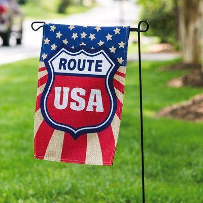 Evergreen Enterprises, Inc Route USA Garden Flag