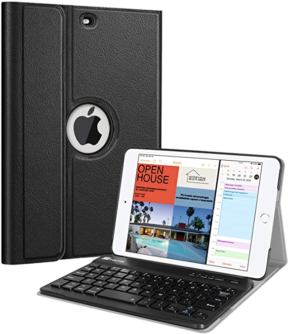 Amazon Com Fintie Keyboard Case For Ipad Mini 5th Gen 2019 Slim Shell Stand Cover With Magnetically Detachable Wireless Blu Ipad Mini Keyboard Case New Ipad