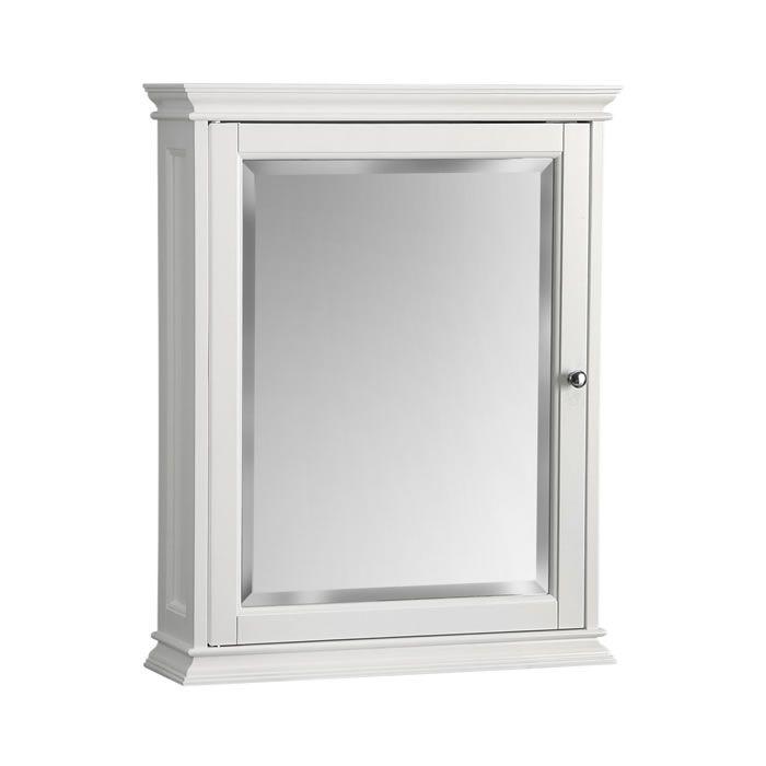 Berkshire White Mirror By Foremost Bathroom Medicine Cabinetin