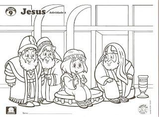 MINISTÉRIO BÍBLICO INFANTIL VIRTUAL_por KAROLLINE POERNER: O MENINO JESUS VAI AO TEMPLO_DESENHOS PARA COLORIR