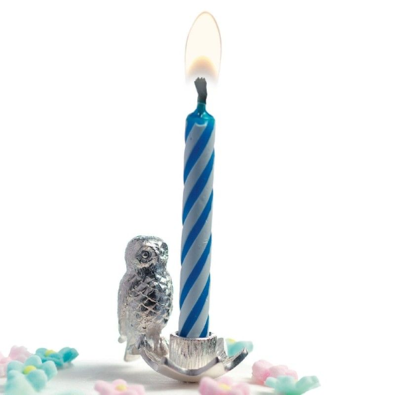 Owl Birthday Cake Candle Holder owl lighting Pinterest Owl