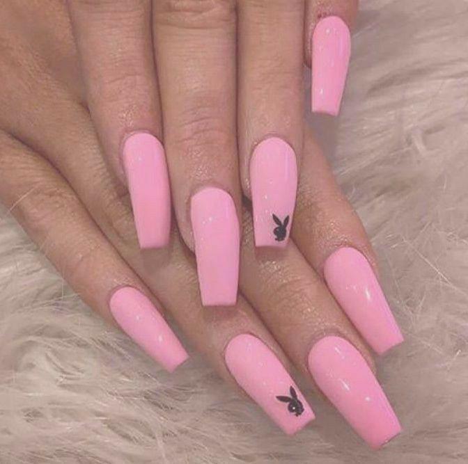 Pink Nails In 2020 Acrylic Nails Acrylic Nails Coffin Short Vibrant Nails