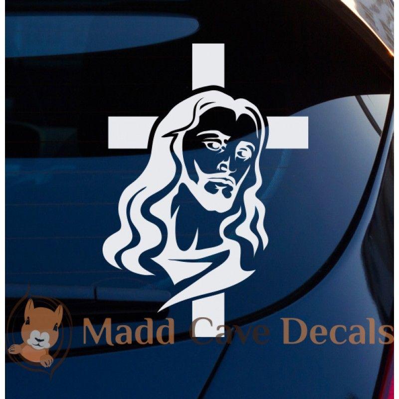 Jesus Face Cross Christian Decal Rostro De Jesus Dibujos Vector