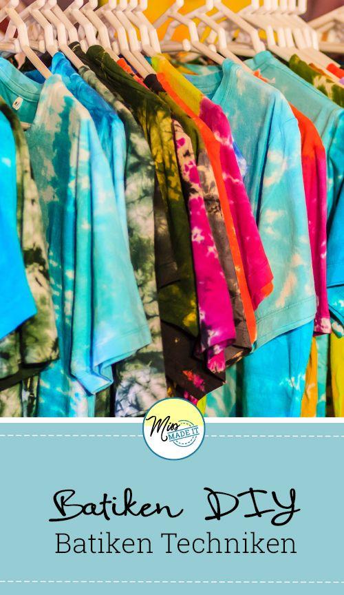 batiken tie dye und shibori techniken muster und eine video anleitung batiken pinterest - Batiken Muster