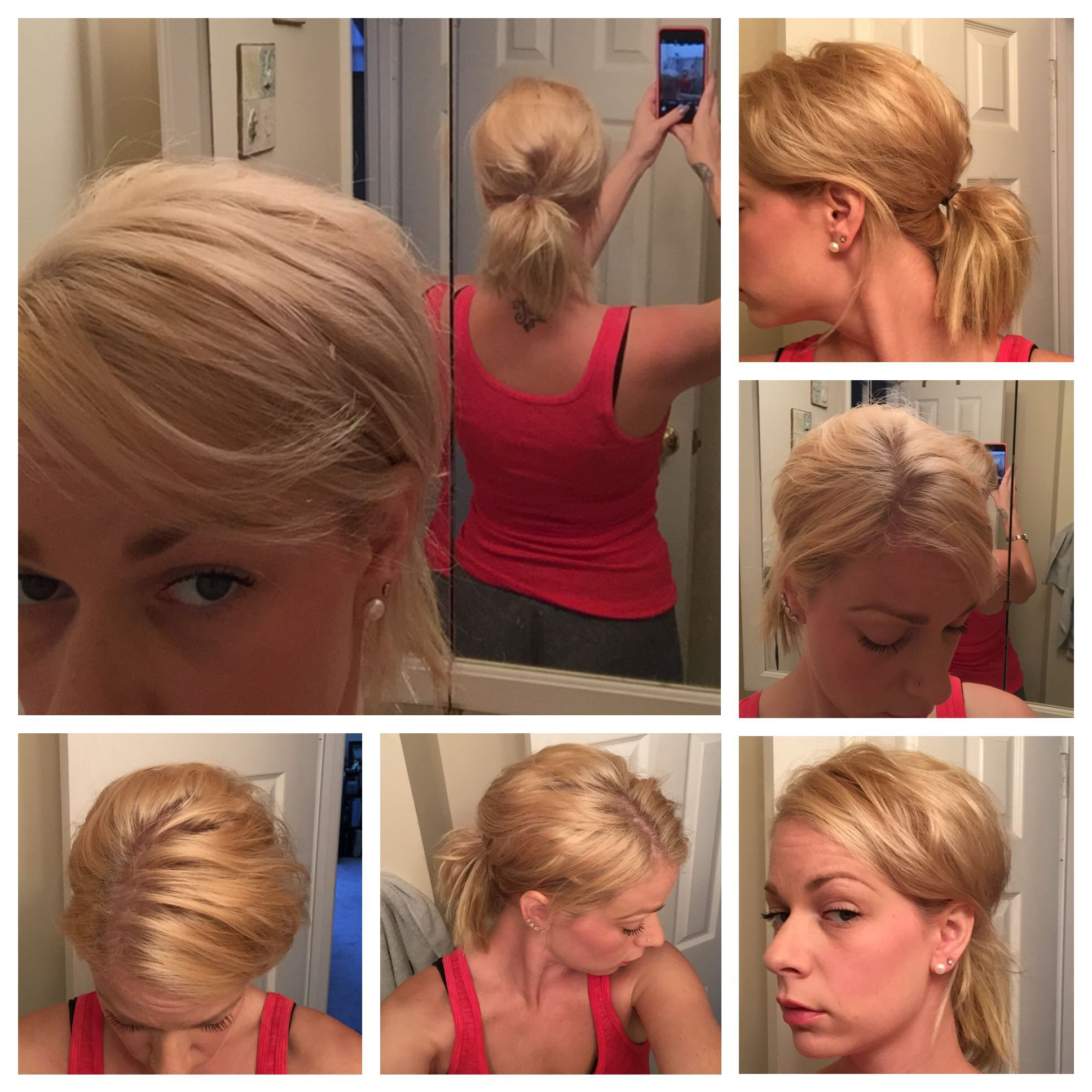 Messy teased Pony🙆🏼 Love this! Esp. With a hair wrap in ...