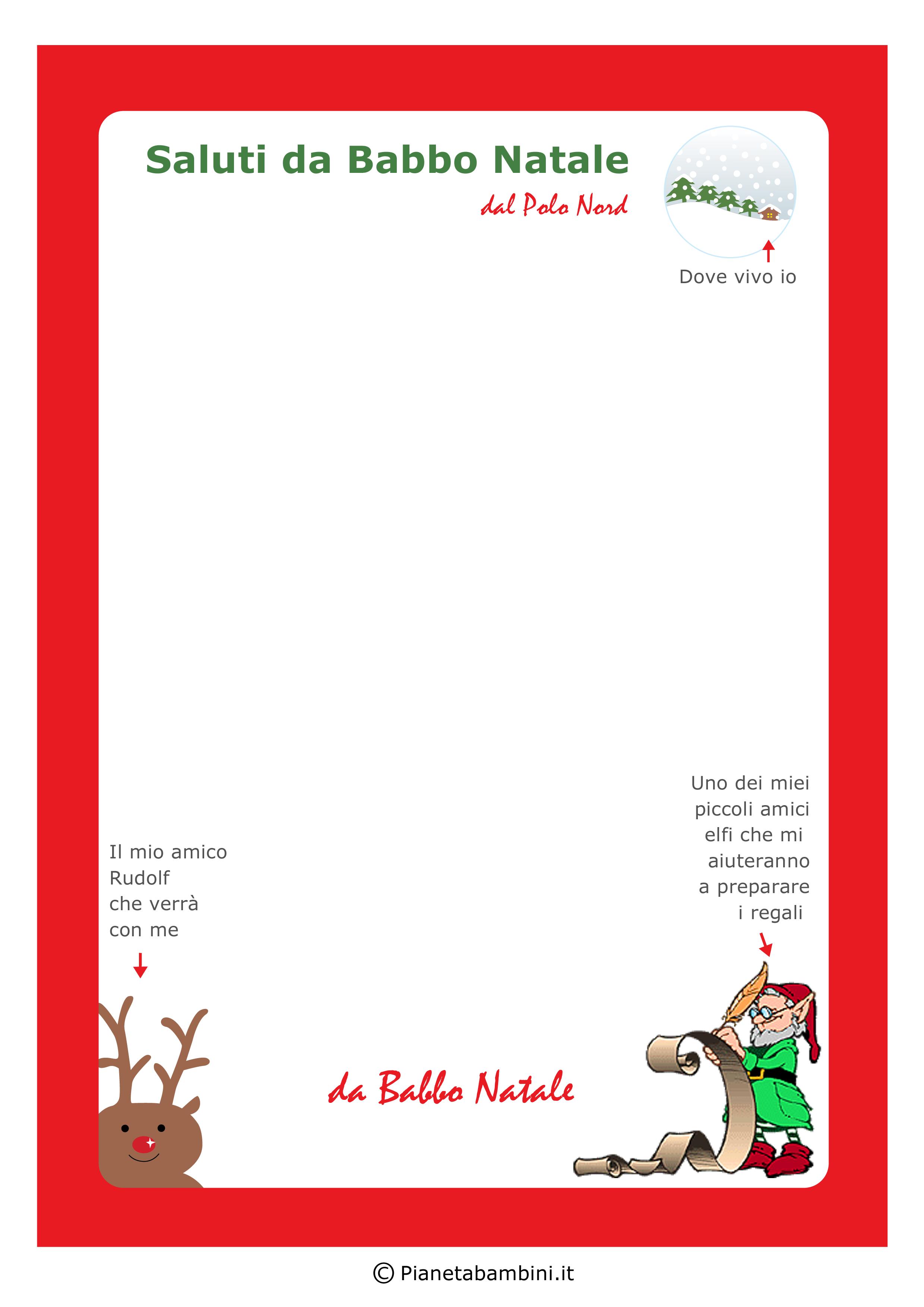 Immagini Di Lettere Per Babbo Natale.Busta E Lettera Originale Da Babbo Natale Ai Bambini Da