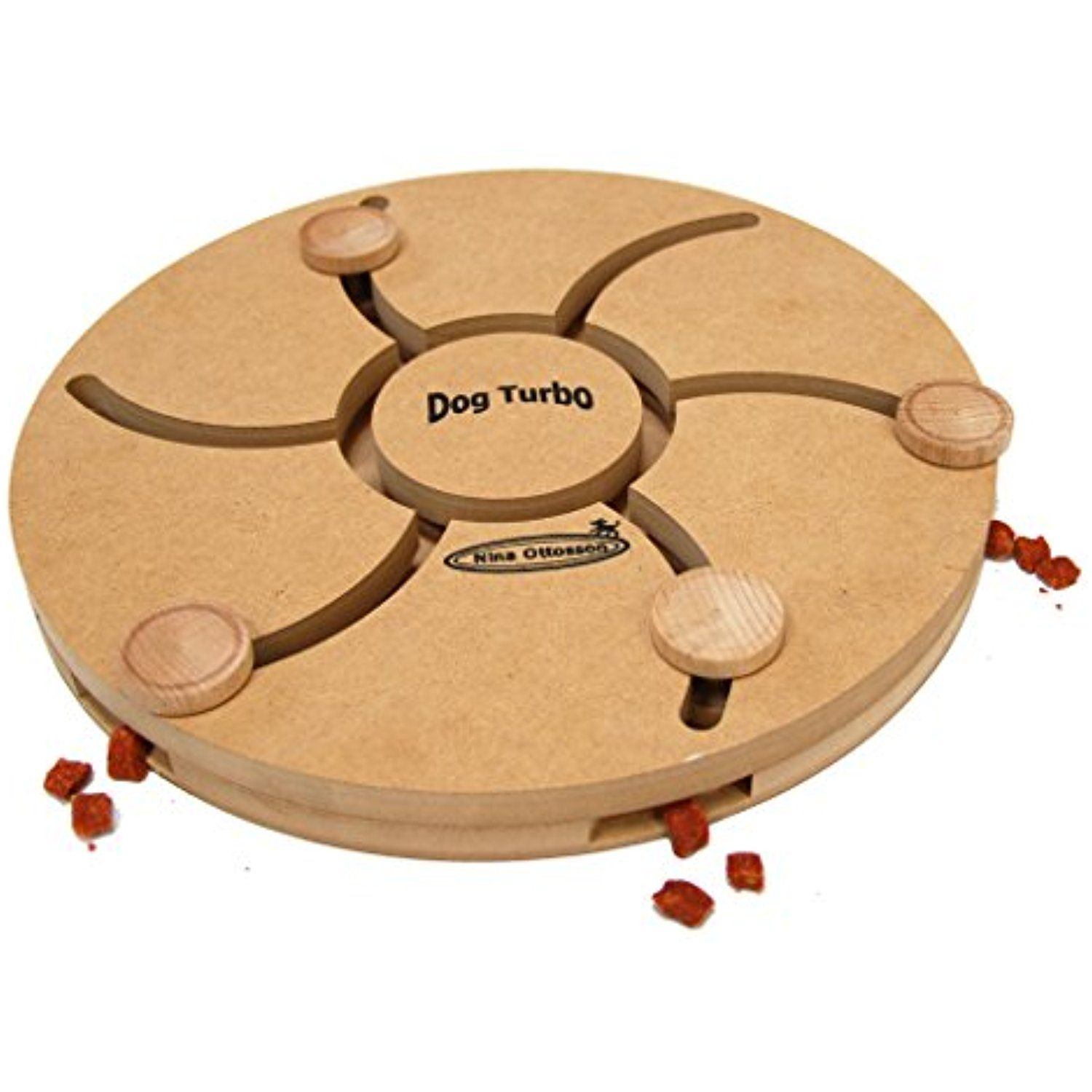 Nina Ottosson Dog Turbo Interactive Doy Toy Puzzle For Dogs Wood