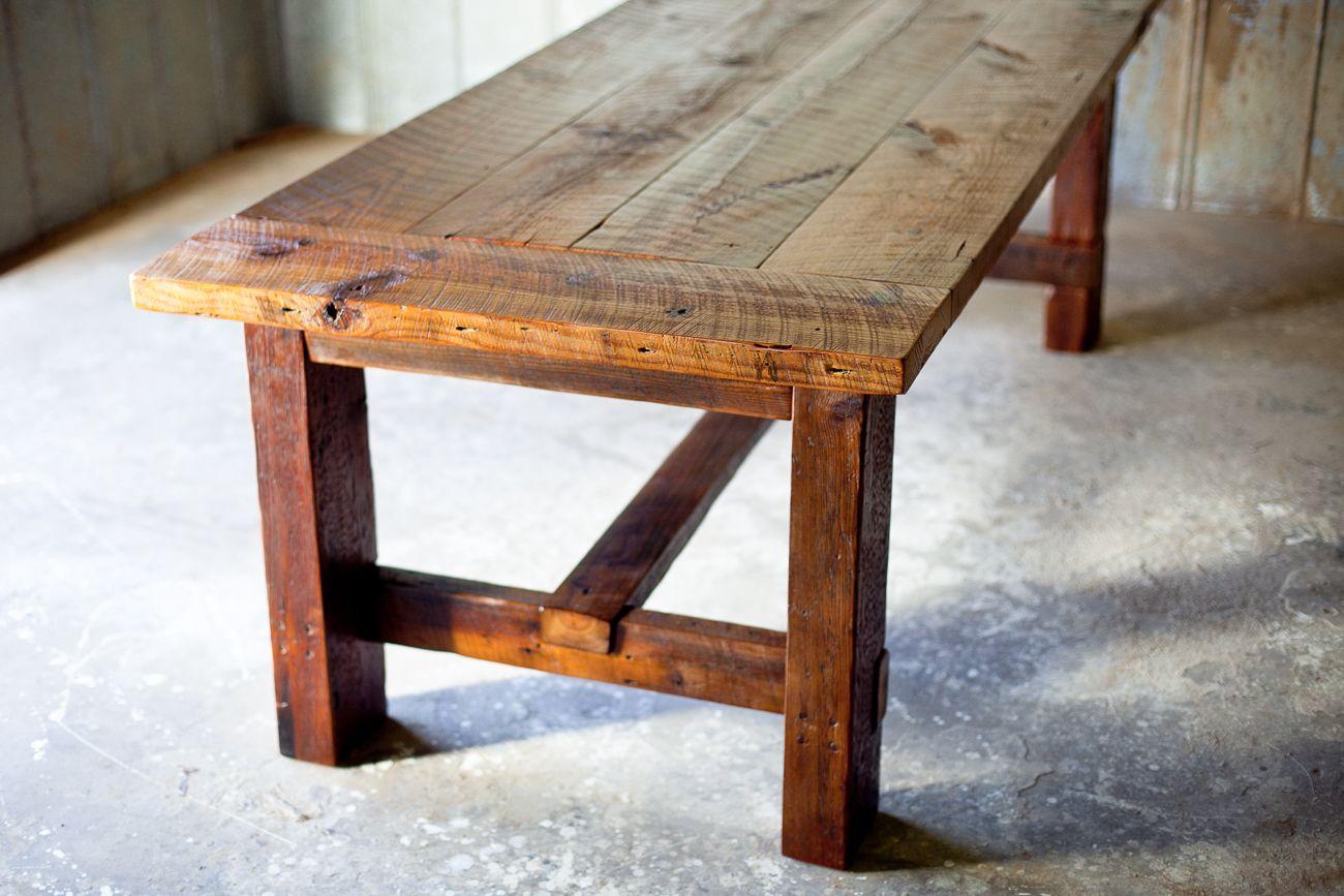 Broad Street Farm Table in 2020 | Rustic farm table ...