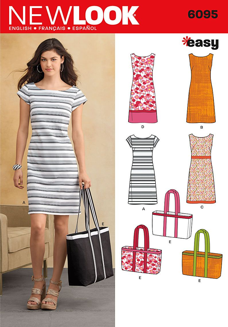 6095 Misses\' Dresses New Look easy sewing pattern. Misses ...