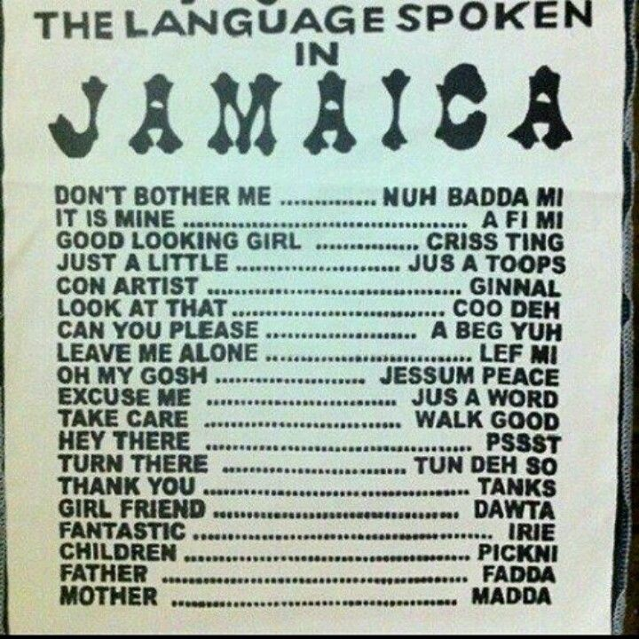 language in jamaica