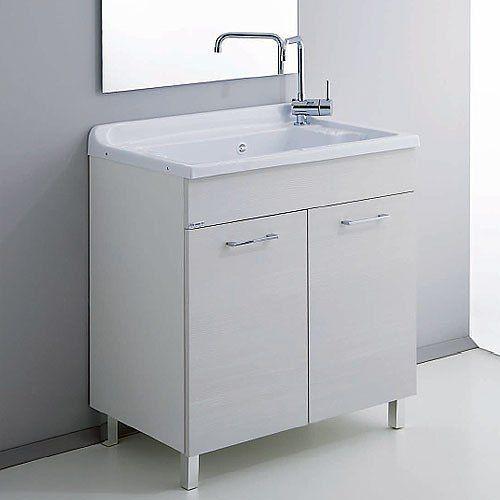 Mobile lavanderia in legno con vasca in Abs 70x40 Scopri: https ...