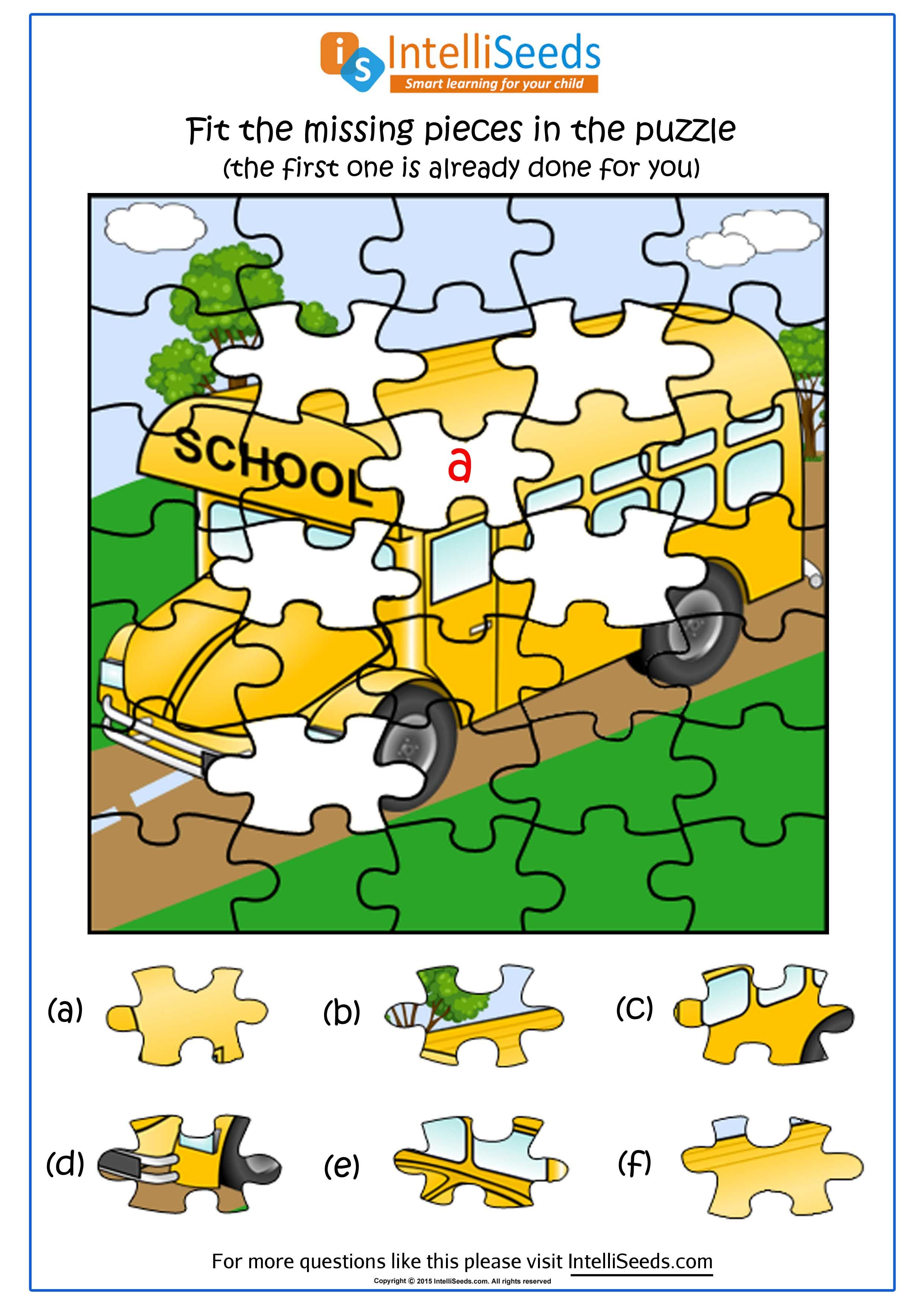 Find the missing pieces of the puzzle! | Thinking Skills Worksheets ...
