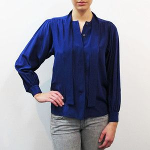 Karen Blouse Midnight, $125, now featured on Fab.