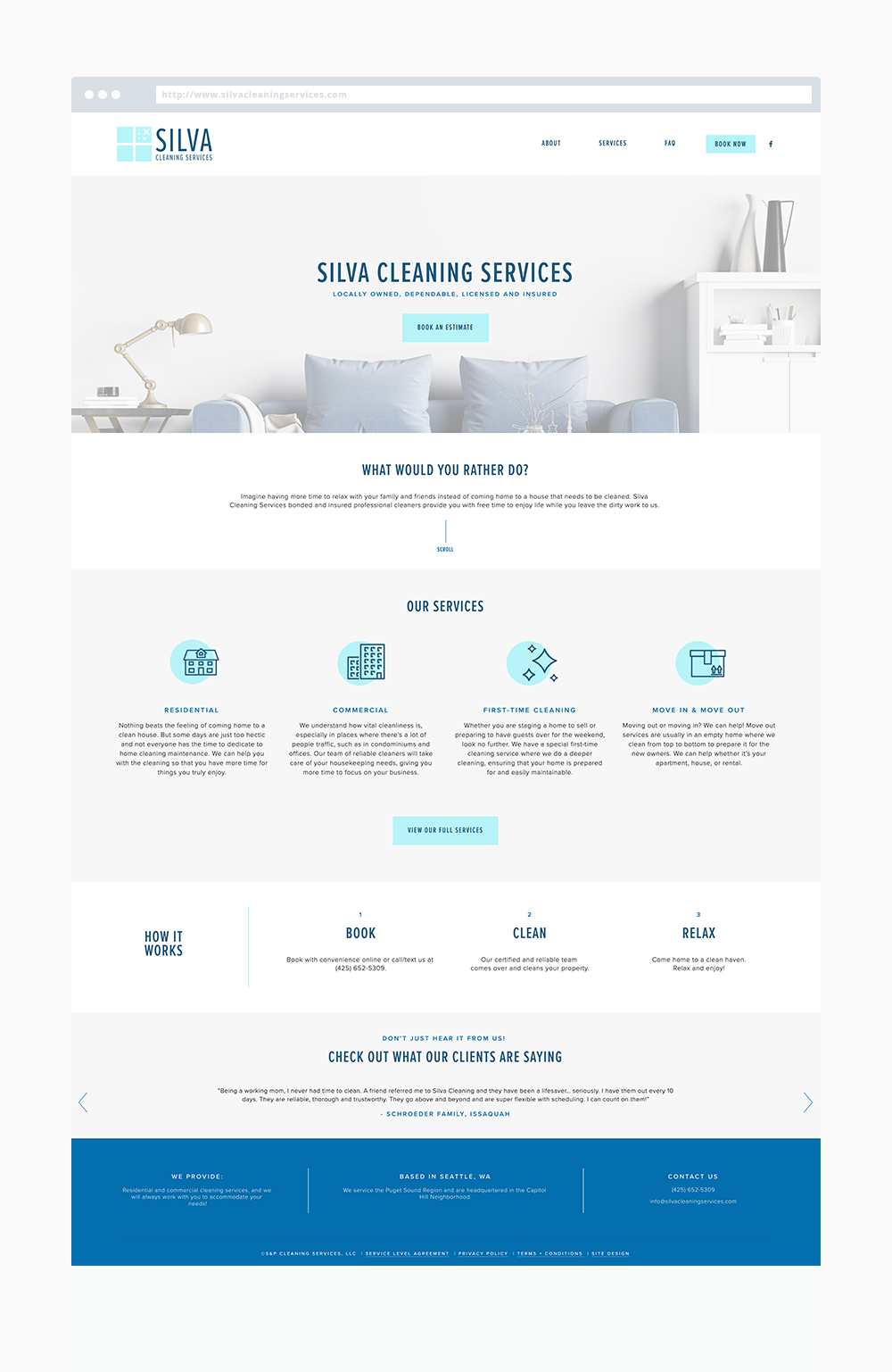 Website Showcase Silva Cleaning Services The Busy Bee Business Web Design Clean Web Design Business Website Design