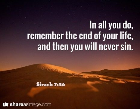 Image result for sirach 7:36  bible