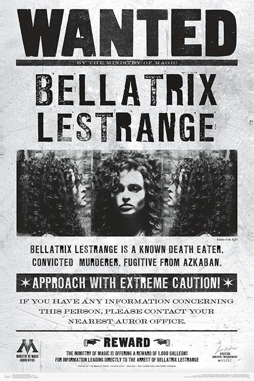 Harry Potter - Wanted Bellatrix Poster Print (22 x 34)