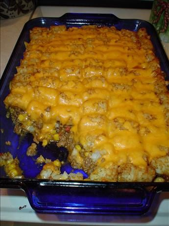 Victory S Taco Tater Tot Casserole Recipe Food Com Recipe Tater Tot Recipes Recipes Tater Tot Casserole