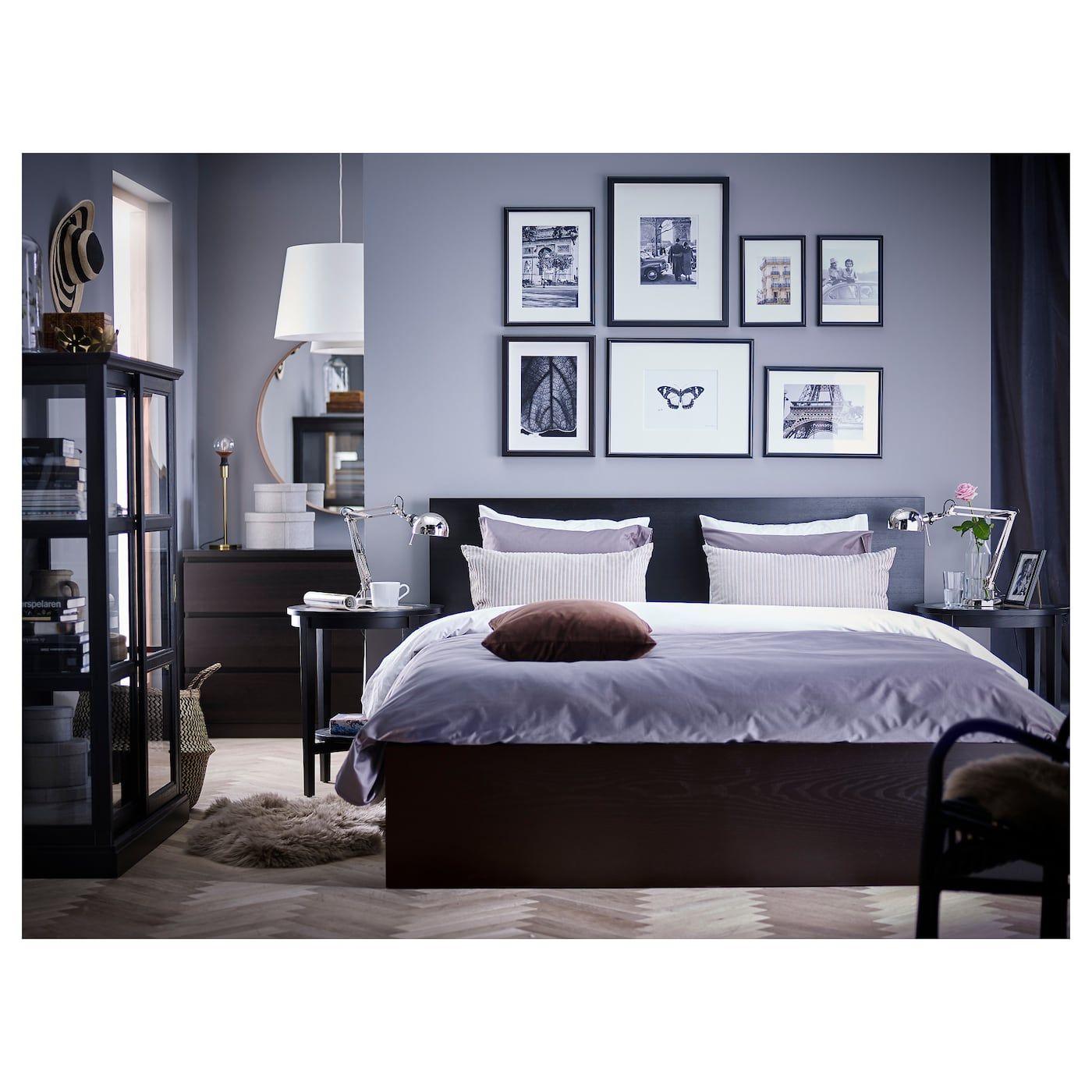 Malm Cadre Lit Haut 4rgt Brun Noir Lonset 160x200 Cm Ikea Malm Bed Frame Malm Bed Ikea Malm Bed