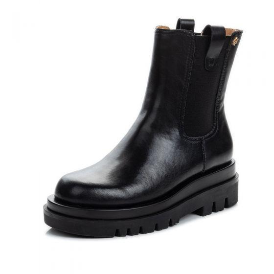 Fashion Winter Black Casual Leather Round Toe Womens Boots 2020 Womens Boots Boots Black Chelsea Boots