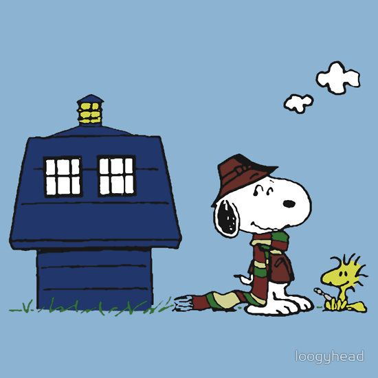 Red Baron Doctor Who Peanuts T-Shirt