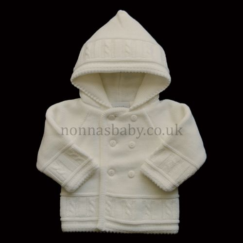 416c9ec12 Double Knitted White Pram Coat