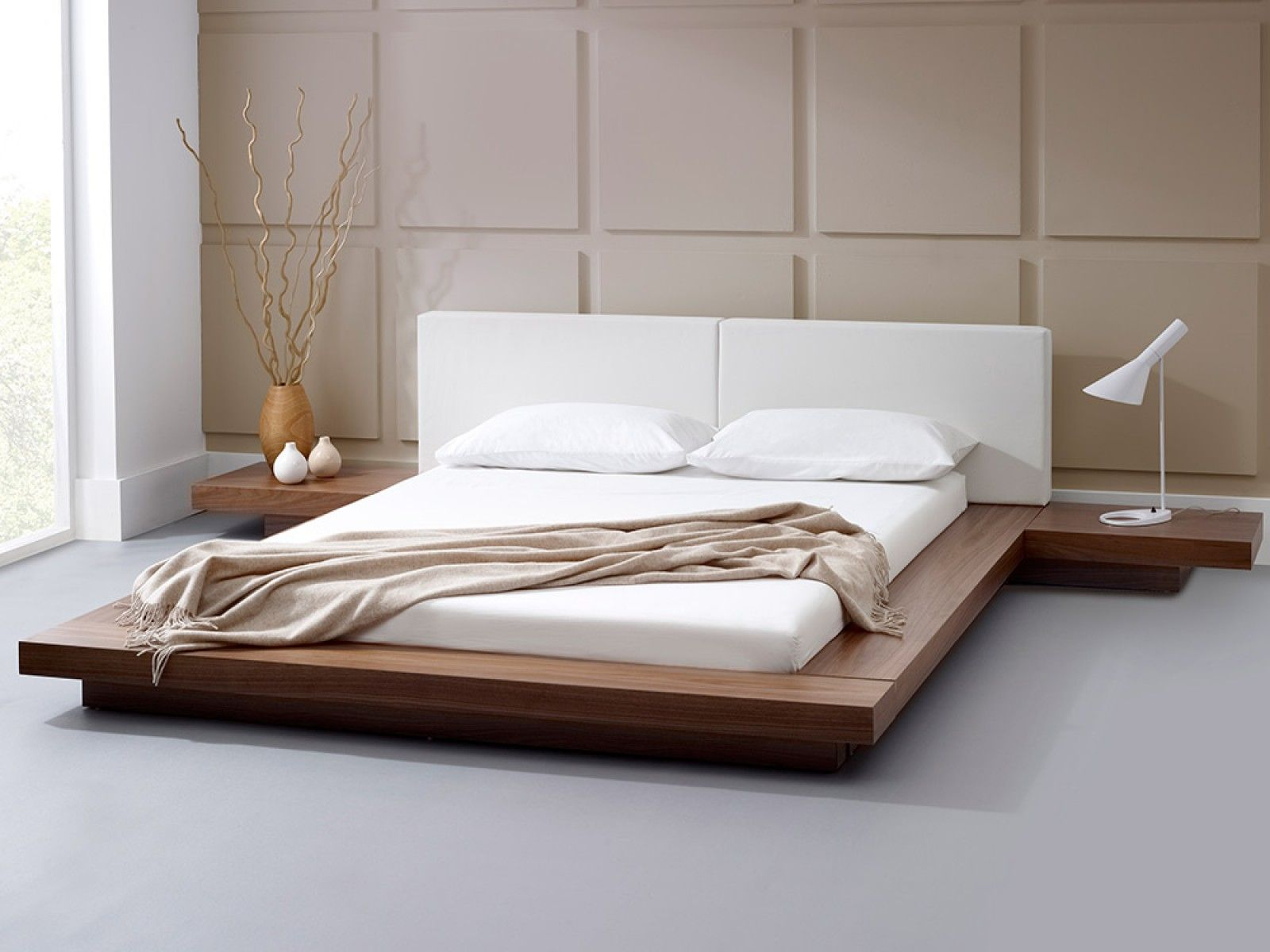 Harmonia Natural Walnut Bed Furniture Design Living Room Bed