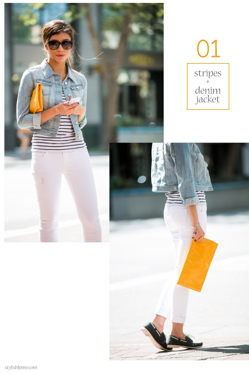 16 Stylish Ways to Wear White Jeans | Flats, Cropped denim jacket ...