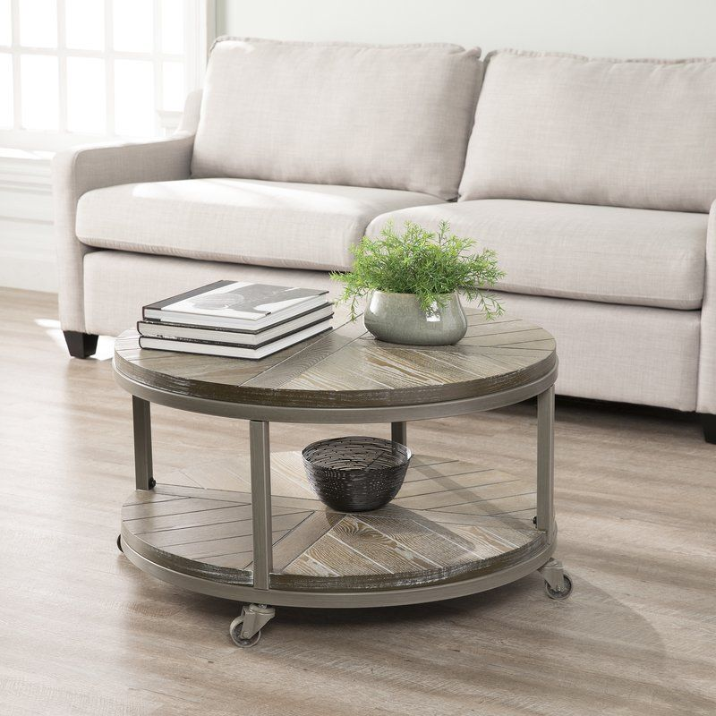 Drossett Wheel Coffee Table With Storage Small Coffee Table