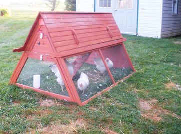 Beau Portable Chicken Coop For 3 To 5 Hens   Modern   Birdhouses   Other Metro    Handcrafted Coops