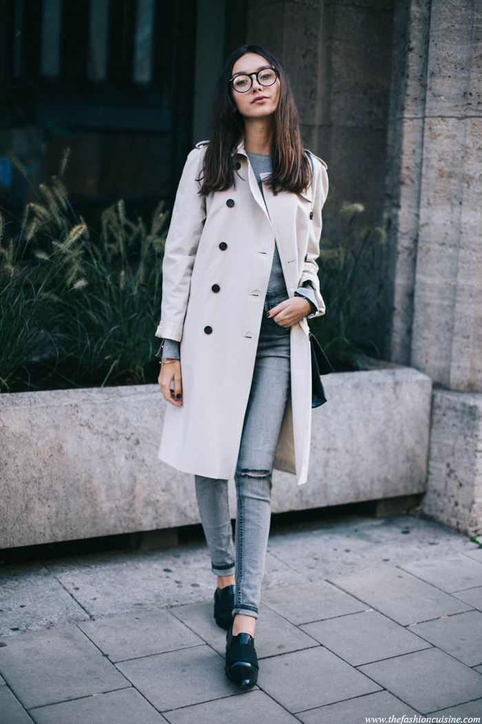 Sarar-trench-coat-grey-Forever-21-jeans-Shoeshibar-patent-black-loafers-fashion-blog-street-style