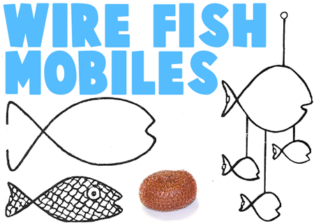 Making Wire Hanger Fish Mobiles | bastelideen | Pinterest | Wire ...