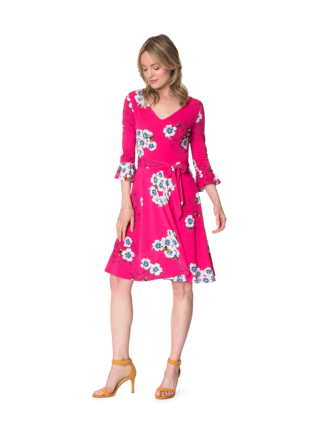 8a2250c3b174 Dresses | Ilana Flounce Sleeve Dress in Hydrangea Bloom – Leota ...