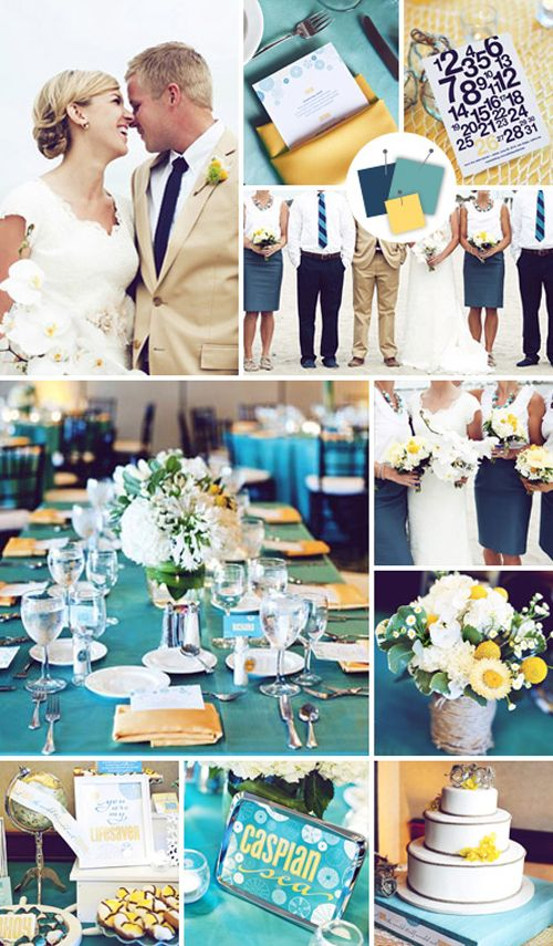 Cool Colour Combo: Indigo, Teal & Saffron - Wedding Obsessions | The ...