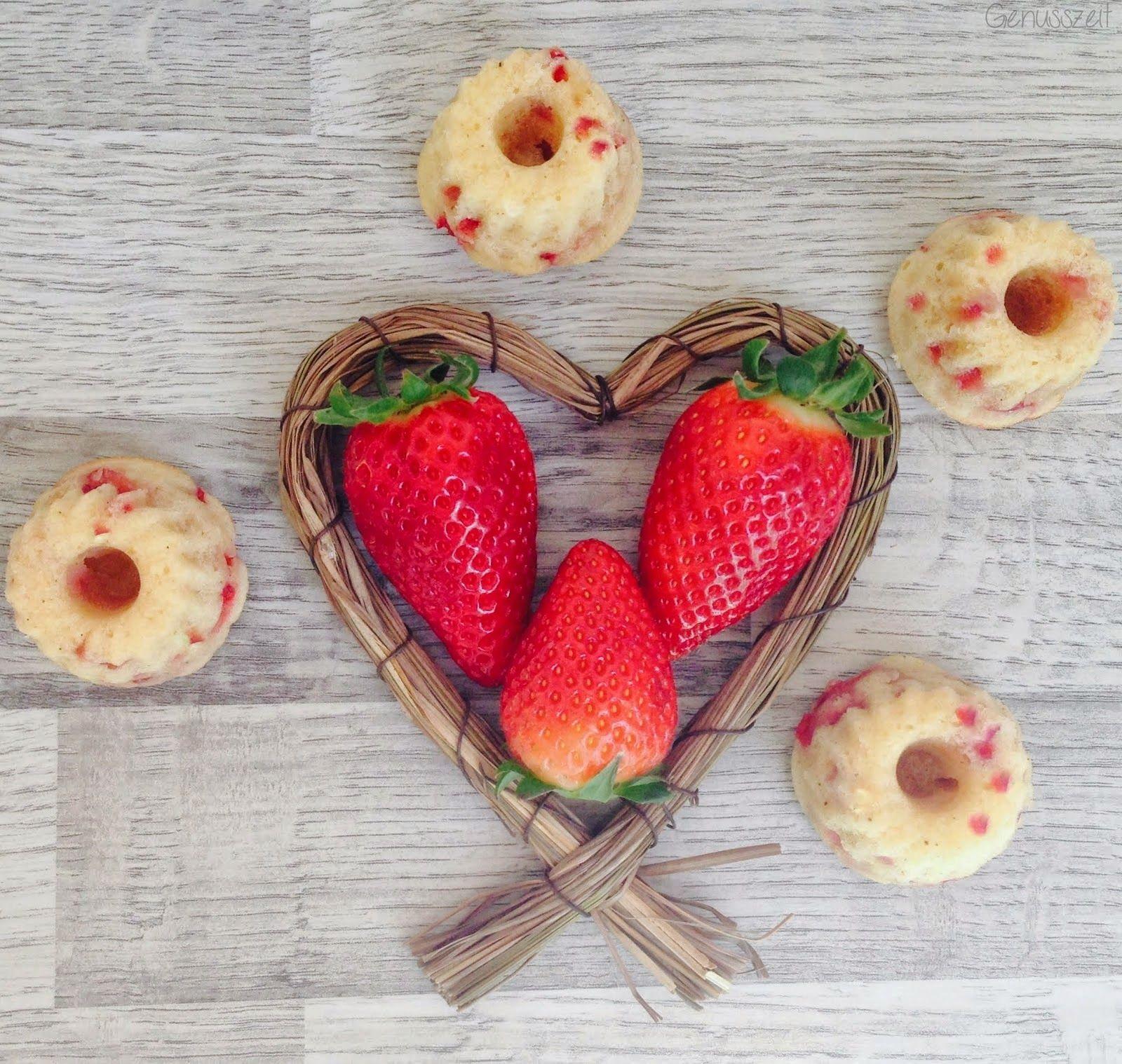 Genusszeit Kleine Frühlingsboten Erdbeer Eierlikör Gugl