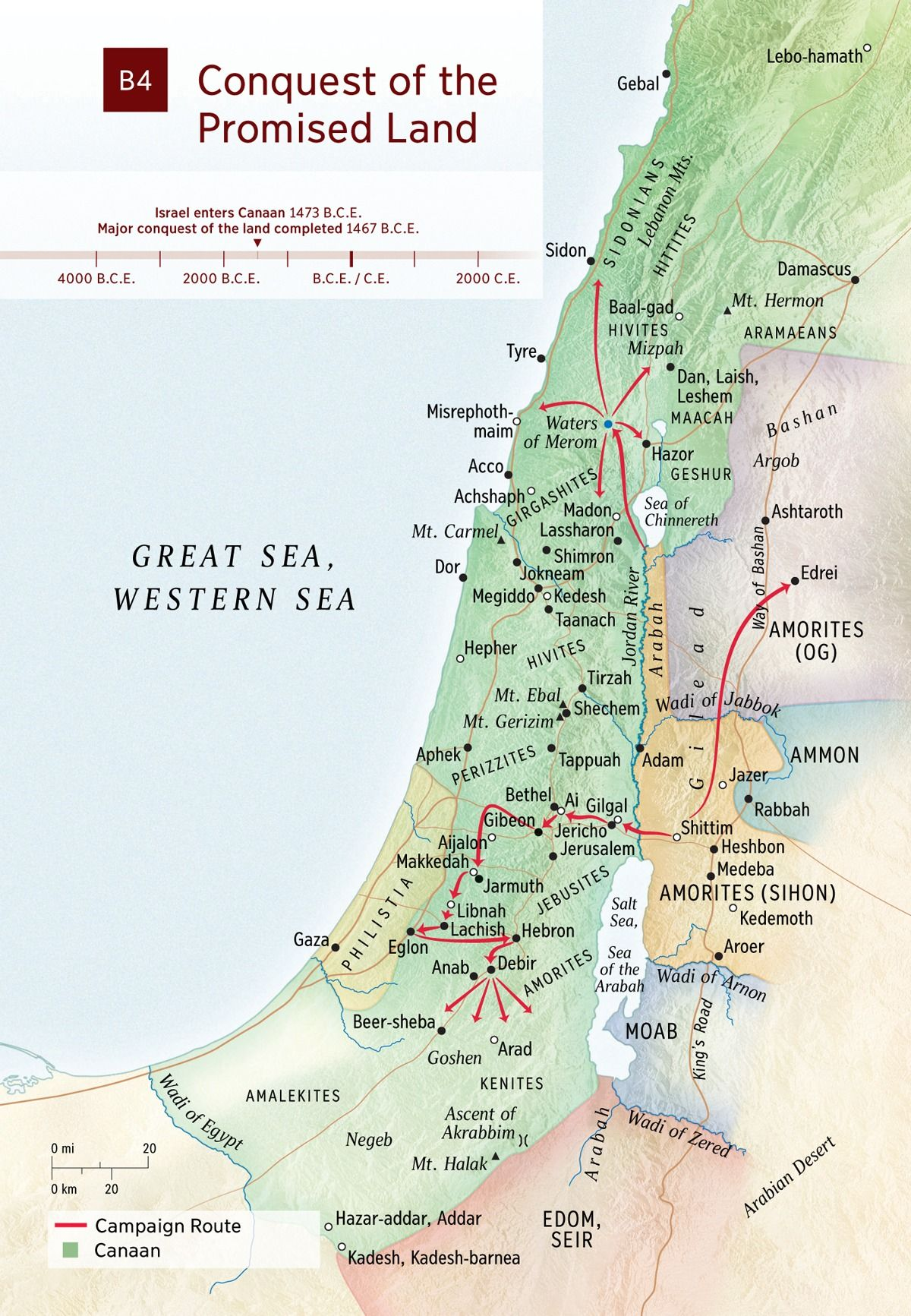 Map Conquest Of The Promised Land With Images Bible Mapping