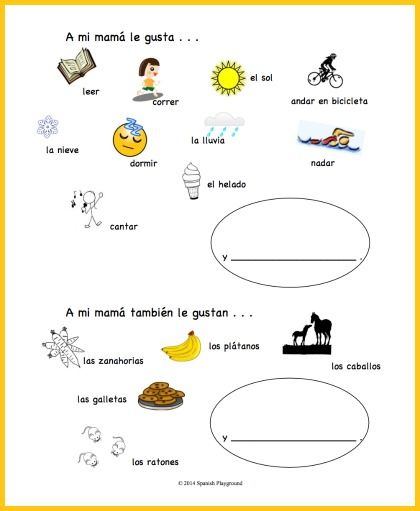 Spanish Mothers Day Printable Activity Spanish for Kids