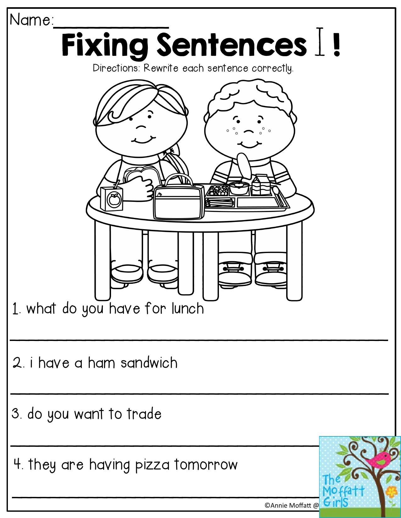 Lead Or Hook Sentence Worksheet