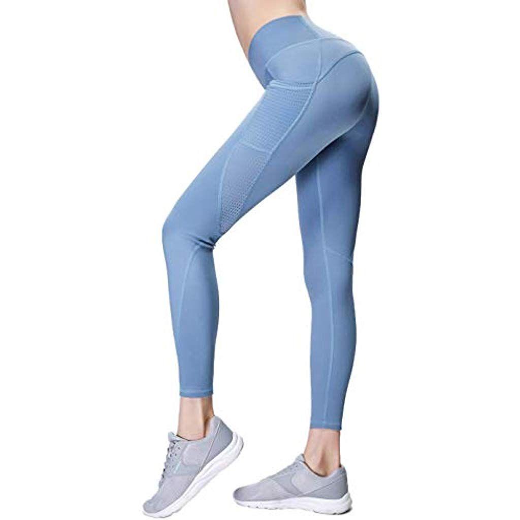Gmardar Womens Yoga Pants with Pockets Tummy Control High Waist Workout Sports Running Gym Yoga Legg...