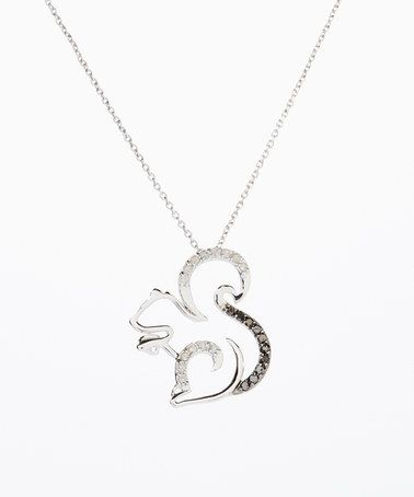 Look what I found on #zulily! Sterling Silver & Diamond Squirrel Pendant Necklace #zulilyfinds