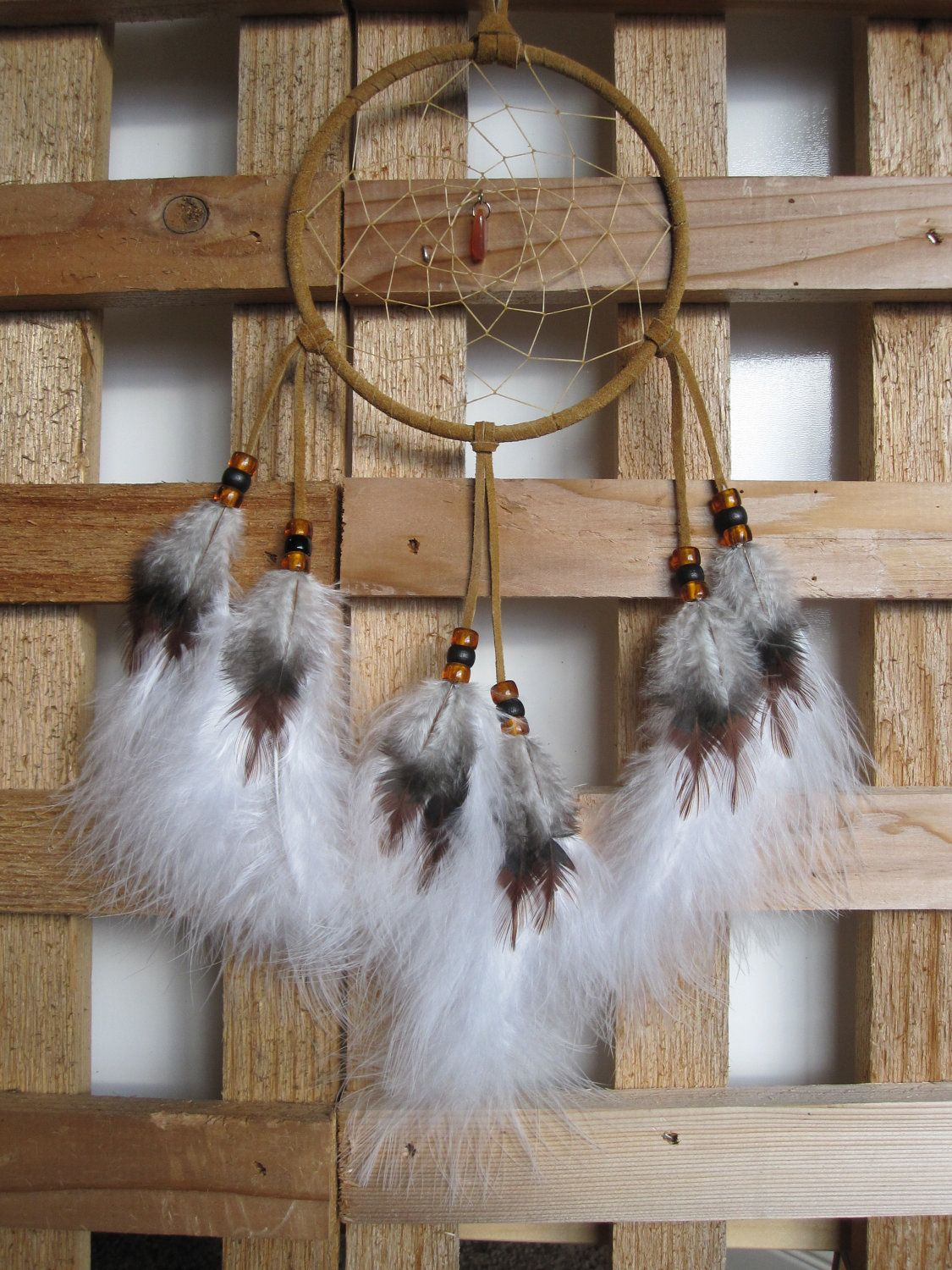 Dream Catcher Tan with Marabou Feathers. $24.95, via Etsy.