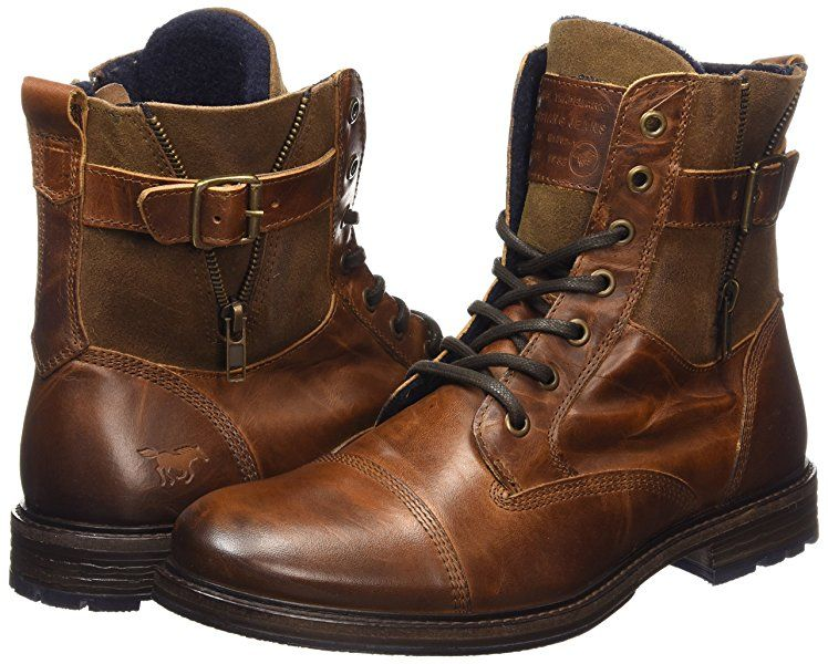 Mustang Schnür boot, Men's Ankle Boots, Brown (3 Braun), 14